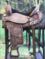 "TO102RO HILASON TREELESS WESTERN BARREL RACING TRAIL PLEASURE SADDLE 15"" 17"""