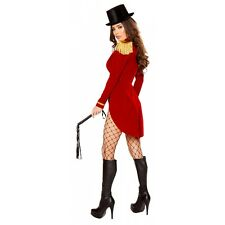 Ringmaster Costume Adult Sexy Circus Ring Leader Halloween Fancy Dress
