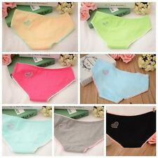 Womens Low Waist Cotton Briefs Panties Hollow Heart Underwear Lingerie G-strings