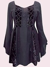 NEW Eaonplus BLACK Embroidered Renaissance Corset Tunic Top UK 18/20 to 30/32