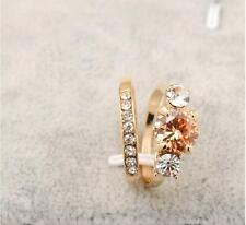 2PCS New 18K Gold Filled Engagement/Wedding Ring SOLID RING SIZE 7 8 9