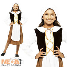 Poor Tudor Dress Girls Fancy Dress Medieval Book Week Childs Costume Outfit New