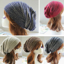 Women's Knit Baggy Beanie Oversize Winter Hat Ski Slouchy Chic Cap Skull hip hop