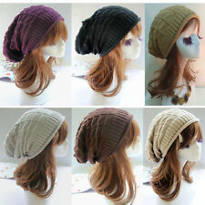 Men Women's Knit Baggy Beanie Oversize Winter Hat Ski Slouchy Chic Cap Skull New