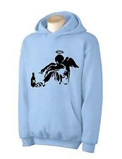 BANKSY FALLEN ANGEL HOODY -  Urban Art Graffiti T-Shirt - Choice Of Colors
