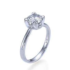 0.7ct G-SI2 NATURAL Diamond Solitaire Engagement Ring 950 Platinum SIZE 8