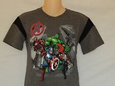 The Avengers Tee Shirt Youth Boys Sizes Gray Marvel Comics Thor Iron Man Hulk