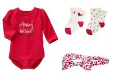 Gymboree Holiday Cozy Cabin Happy Bright Bodysuit Socks Headband Fruffle NWT