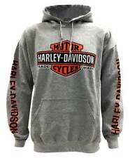 Harley-Davidson Men's Bar & Shield Logo Pullover Hooded Sweatshirt, Gray