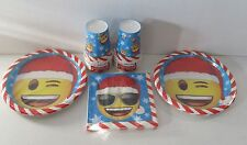 Christmas Emoji Tableware plates, cups - Create your own party pack