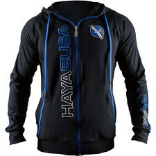 Hayabusa Prime Zip Up Hoodie - Black/Blue