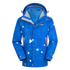 Boys Girls 3 in 1 Winter Outdoor Waterproof Jacket Fleece Lined Hiking Warm Coat