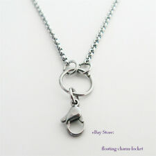 """Stainless Steel Silver Color 70/76cm """"O"""" Chain Necklace DIY Locket Hang Charms"""