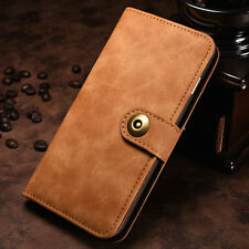 For iPhone 7 Plus Case Magnetic Flip Leather Card Slots Pouch Wallet Cover Purse