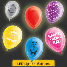 "10"" Latex LED Light Up Balloons - Colours/Themes (Party/Birthday/LED/balloons)"