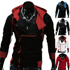 Fashion Warm Oblique Zip Up Hooded Hoodie Slim Fit Sweater Casual Coats Cool TOP