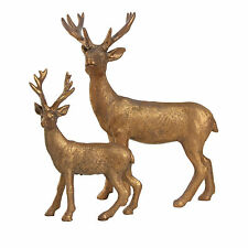Copper Standing Stag Reindeer Christmas Ornaments Xmas Deer Decorations