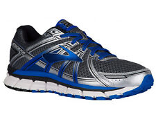 NEW MENS BROOKS ADRENALINE GTS 17 RUNNING SHOES TRAINERS ANTHRACITE / ELECTRIC