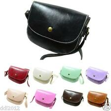 Retro Women Grils Messenger Bags Chain Shoulder Bag Leather Crossbody Purse