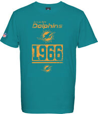Miami Dolphins T - Shirt Tee,NFL Football,100% BW,Logo,Team,from Majestic