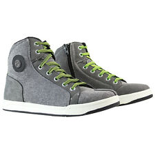 PAST Mens Casual Motorcycle Racing Riding Boots High-top Grey Offroad Shoes New