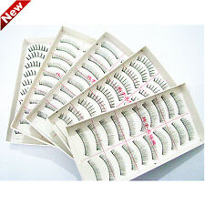 10Pairs Makeup Handmade Soft Natural Fake Long False Eyelashes Eye Lashes NEW  q