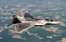 USAF F-22 Raptor Fighter Jet Color Photo Combat Aircraft  Fighter Military F 22