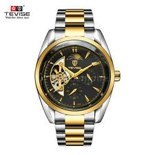 Tevise Stainless Steel Male Automatic Moon Phase Mechanical Watch Luminous C9Z0