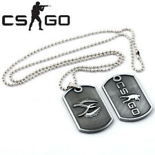 CSGO cs:go CT/T Camp Logo Metal Chain Necklace Pendant Keychain Key Ring Dog Tag
