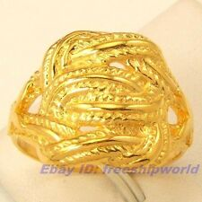 Size 9,10,11 Ring,REAL AFRICA STYLE 18K YELLOW GOLD GP EMPAISTIC SOLID FILL GEP