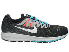 NEW MENS NIKE AIR ZOOM STRUCTURE 20 RUNNING SHOES TRAINERS BLACK / BRIGHT MANGO