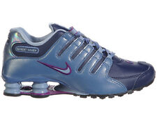 NEW WOMENS NIKE SHOX NZ RUNNING SHOES TRAINERS MIDNIGHT NAVY / BLUE GREY / OCEAN