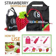1/2 Pcs Strawberry Cute ECO Reusable Shopping Shoulder Tote Bag