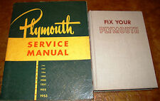 1946 47 48 1949 1950 1951 1952 1953 Plymouth Service Manual all models Originals