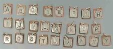 Sterling Silver & Copper Alphabet Letter Charms, Choice of Letter, Far Fetched