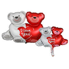 Bear Couple Shape Foil Balloon Wedding Anniversary Valentine Party Supply