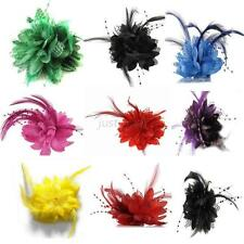 Chic New Flower Feather Bead Corsage Hair Clips Fascinator Hairband Pin Bracelet