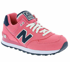 New New Balance 574 Shoes Women's Sneaker Trainers Pink WL574POP Leisure SALE
