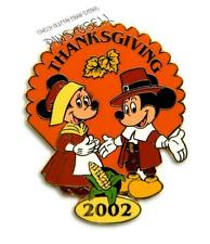 MICKEY & MINNIE MOUSE 2002 THANKSGIVING CAST MEMBER WORKING DAY DISNEY PIN
