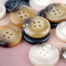 20 X Resin Buttons 4 Hole Sewing Round DIY Men Clothing Coat Jacket 23/25/30mm