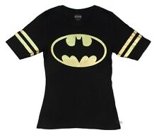 Batman Symbol Foil Football DC Comics Licensed Junior Shirt S-XXL
