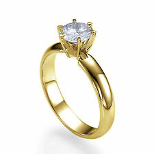 0.60 CT 18K Yellow Gold Solitaire Engagement Ring Size 9 Round G VS1 Diamond