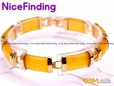 Fashion Jade Chain Link Tennis Bracelets Gold Plated Jewelry Women Birthday Gift