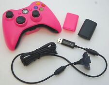 GENUINE Microsoft XBox 360 PINK Play & Charge Wireless Controller Battery Kit