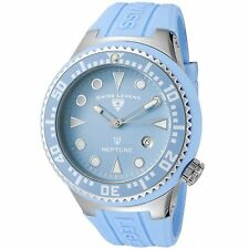 NEW Swiss Legend SL-21848D-012 Men Neptune Baby Blue Silicone Sport Rugged Watch