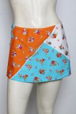 AGUA DOCE Blue Multi Floral Swim Skirt Swimsuit Cover Up Sz S M L NWT $69