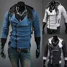 Mens Warm Slim Fit Hoodie Sweatshirt Coat Hoody Zip Up Jacket Jumper Top Outwear