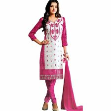 Designer Elegant Embroidery Cotton Salwar Kameez Readymade India-Venee-HR-2508-B
