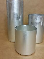 Round Pillar Seamless Aluminum Candle Molds 4 inch size (You Choose Height)