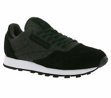 NEU Reebok Classic Leather KSP Shoes Men's Sneakers Trainers Black Leather